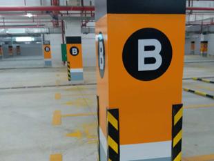 蓝城一号地下室交通工程